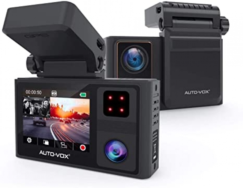 ihocon: Auto-Vox Aurora 1920x1080p FHD Dual Dashboard Camera with Built-in GPS and Infrared Night Vision雙鏡頭行車記錄儀器