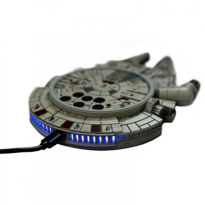 ihocon: Star Wars Millennium Falcon Wireless Charger with AC Adapter 手機無線充電器