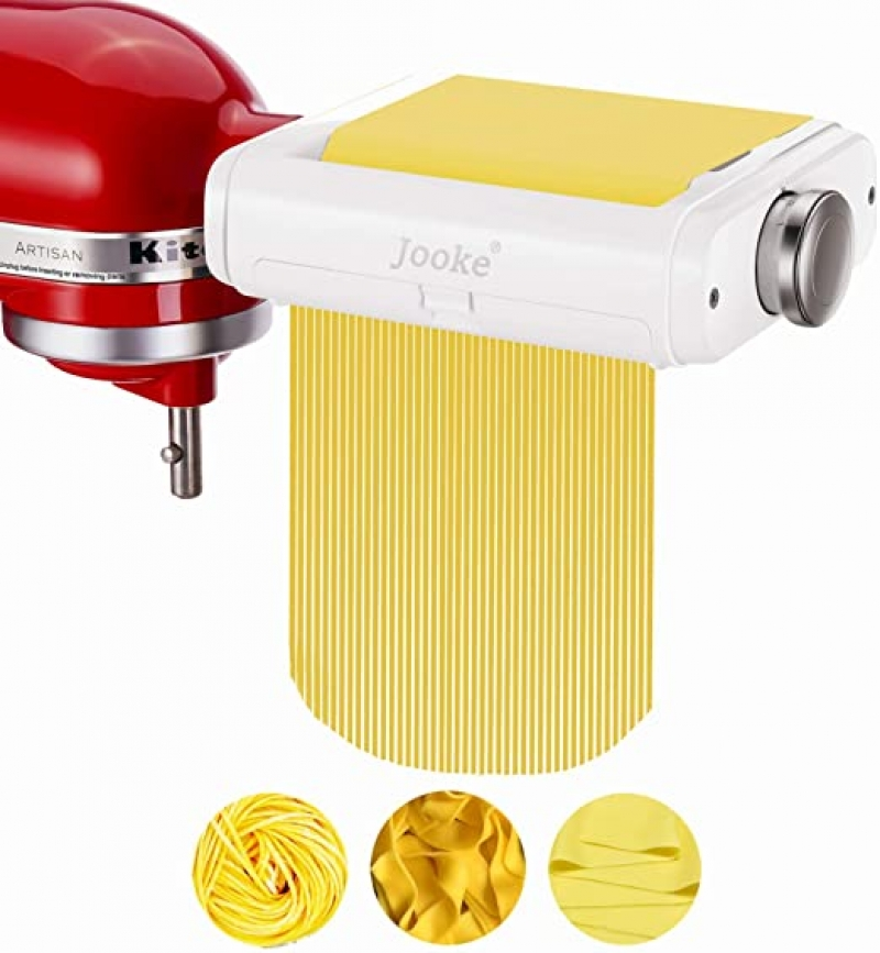ihocon: Jooke 3 in 1 Innovative Pasta Maker Attachment for KitchenAid Stand Mixers三合一壓麵配件