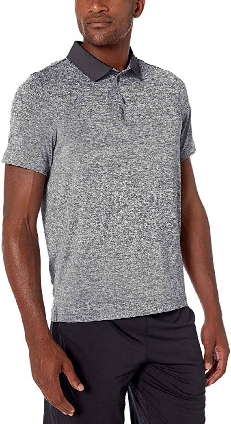ihocon: [Amazon自家品牌] Peak Velocity Men's Tech-Stretch Short Sleeve Quick-Dry Loose-fit Polo Shirt 男士快乾短袖衫