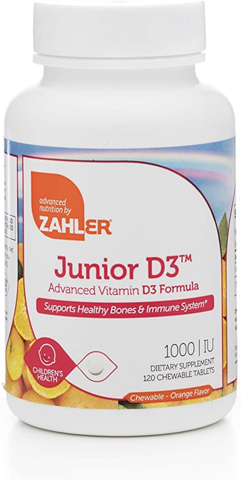 ihocon: Zahler Junior D3 Chewable 1000IU, 1000 IU, 120 Chewable Tablets 兒童嚼片