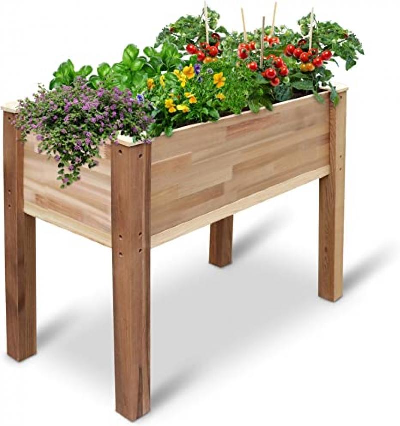 ihocon: Jumbl Raised Canadian Cedar Garden Bed 架高種植床