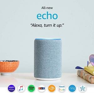 [第三代] All-new Echo (3rd Gen) 智能Speaker, 可與Alexa協作 $59.99免運(原價$99.99)
