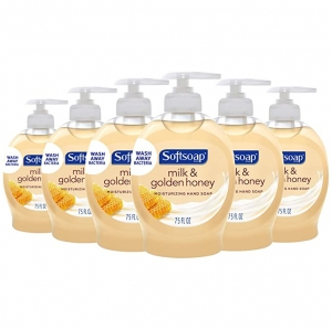 ihocon: Softsoap Moisturizing Liquid Hand Soap, Milk and Honey - 7.5 fluid ounce (6 Pack) 洗手液皂