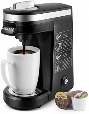 ihocon: CHULUX Single Serve Coffee Maker Brewer for Single Cup Capsule with 12 Ounce Reservoir 膠囊咖啡機