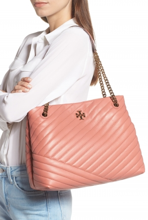 ihocon: TORY BURCH Kira Chevron Quilted Leather Tote托特包