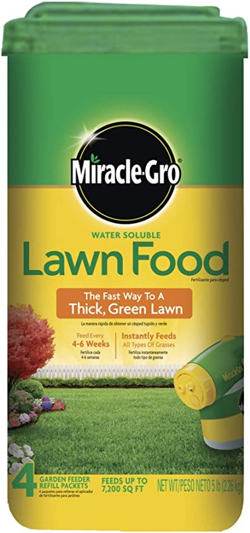 ihocon: Miracle-Gro Water Soluble Lawn Food, 5 lb. 草地肥料