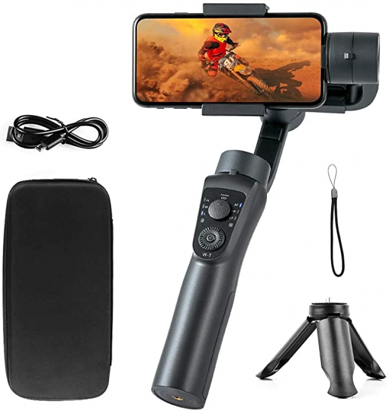 ihocon: [錄影不怕手抖] Blusmart 3-Axis Portable Gimbal stabilizer 手機三軸穩定器