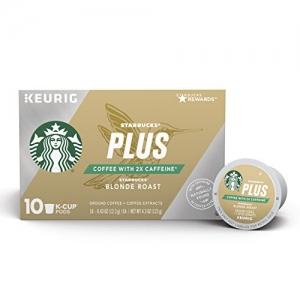 Starbucks Plus 2倍咖啡因咖啡膠囊 60個 $38.94免運(原價$48.68)