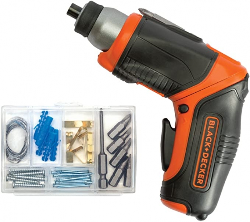 ihocon: BLACK+DECKER 4V MAX Cordless Screwdriver, Rechargeable 充電式無線電動螺絲起子