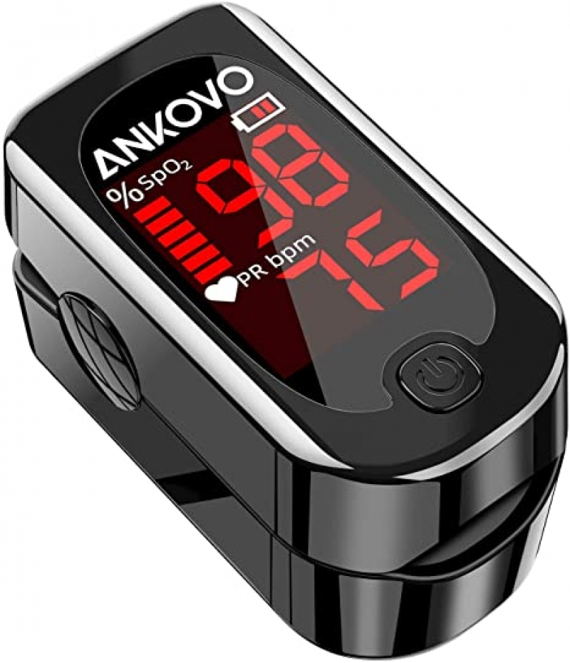 ihocon: ANKOVO Blood Oxygen Saturation Monitor with Pulse Rate & Heart Rate Monitor血氧儀