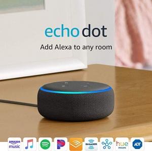 ihocon: Echo Dot (3rd Gen) - Smart speaker with Alexa - Charcoal