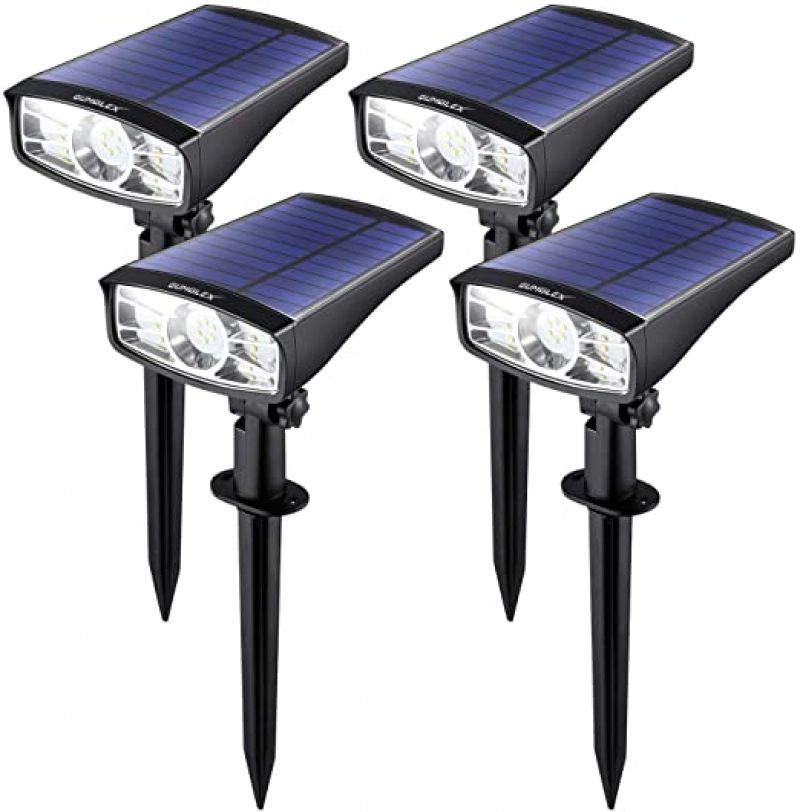 ihocon: GUMGLEX Solar Spot Lights Outdoor with 12 LED, 4 Pack 太陽能庭園燈