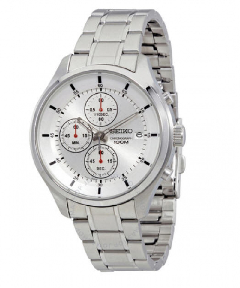 ihocon: Seiko Chronograph Silver Dial Men's Watch 精工計時男錶