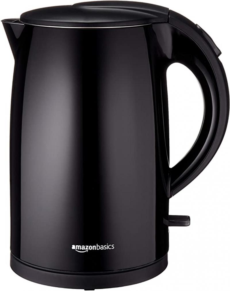 ihocon: AmazonBasics Double-Walled Stainless Steel Electric Kettle - 1.7 Liter 不銹鋼雙層電熱水瓶