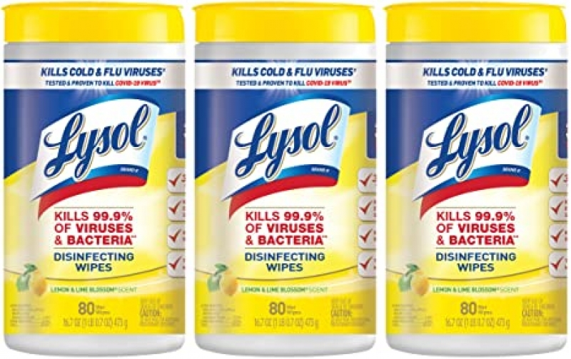 ihocon: Lysol Disinfecting Wipes Value Pack, Lemon And Lime Blossom, 240 Count 消毒濕巾