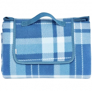 ihocon: AmazonBasics Plaid Outdoor Picnic Blanket with Waterproof Backing防水野餐毯
