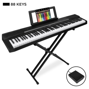 ihocon: Best Choice Products 88-Key Digital Piano Set w/ Semi-Weighted Keys, Stand, Sustain Pedal 電鋼琴