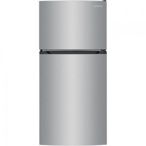 ihocon: Frigidaire 13.9 cu. ft. Top Freezer Refrigerator in Brushed Steel, ENERGY STAR 雙門小冰箱