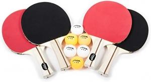 [今日特賣] STIGA Performance乒乓球拍4支 + 乒乓球6個 $18.89(原價$49.99)