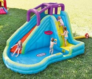 Little Tikes Slam 'n Curve Slide 充氣玩水溜滑梯 $279免運(原價$399.99)