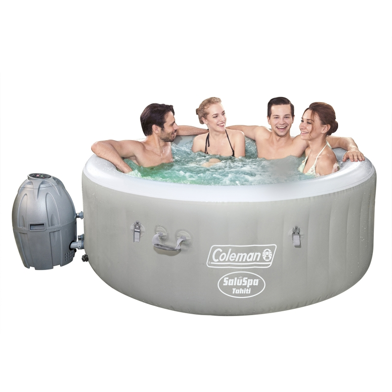 ihocon: Coleman SaluSpa 71 x 26 Tahiti AirJet Inflatable Hot Tub, 2-4 Person 充氣按摩浴缸