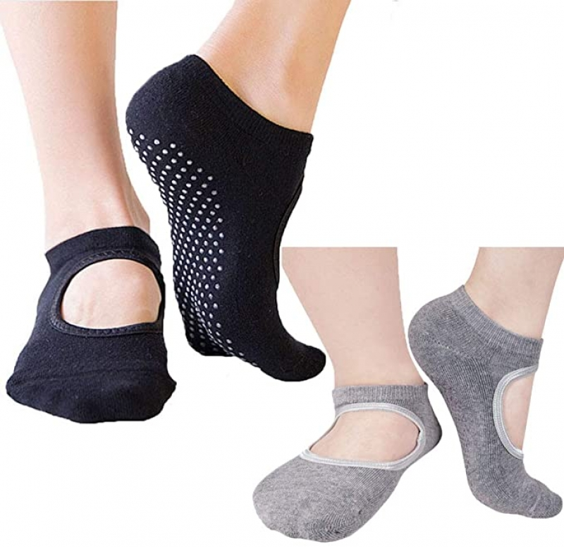 ihocon: ALX 2 pairs Non Slip/Skid Yoga Socks 防滑瑜伽襪 2雙