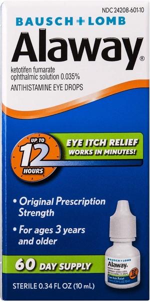 ihocon: Bausch + Lomb Alaway Antihistamine Eye Drops, 0.34 Ounces/10 mL  抗組織胺眼藥水