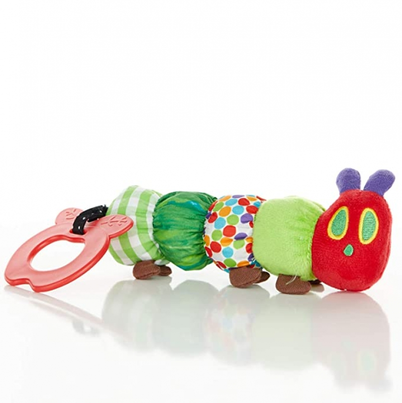 ihocon: The World of Eric Carle, The Very Hungry Caterpillar Teether Rattle ,Teething Toy for Babies 嬰兒玩具