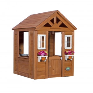 ihocon: Backyard Discovery Timberlake Cedar Wooden Playhouse 木製遊戲屋