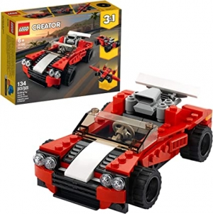 ihocon: [2020新款] LEGO Creator 3in1 Sports Car Toy 31100 Building Kit, New 2020 (134 Pieces)