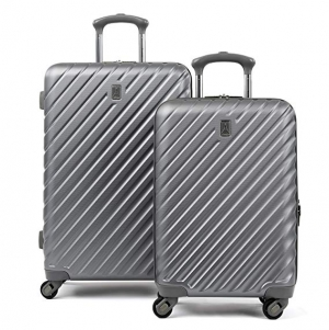 ihocon: Travelpro Citadel Deluxe 20 and 24 Hardside Spinner Luggage Set, Gun Metal Gray  硬殼行李箱