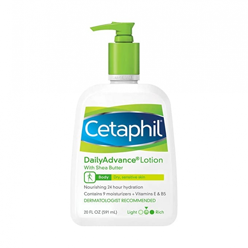ihocon: Cetaphil Daily Advance Ultra Hydrating Lotion for Dry/sensitive Skin, Fragrance Free, 20 Fl Oz  保濕乳