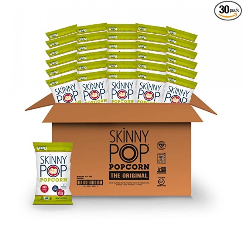 ihocon: SkinnyPop Original Popped Popcorn, 0.65 Oz (Pack Of 30) 爆米花
