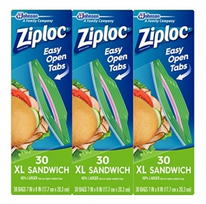 ihocon: Ziploc Sandwich Bags, XL, 3 Pack, 30 Ct 三明治袋夾鍊袋