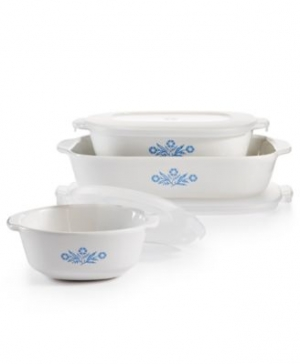 ihocon: Corningware康寧 Cornflower 6-Pc. Set