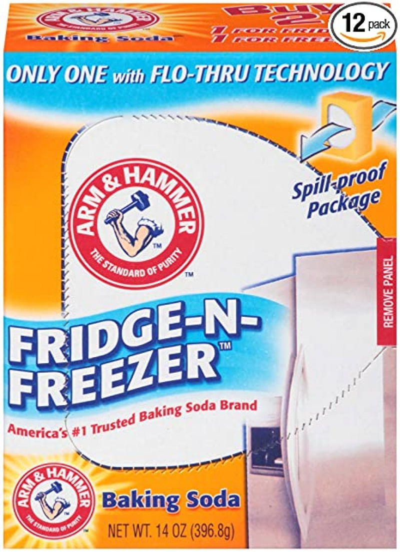 ihocon: Arm & Hammer Baking Soda Fridge-n-Freezer Odor Absorber, 14 oz, Pack of 12  冰箱小蘇打除味劑