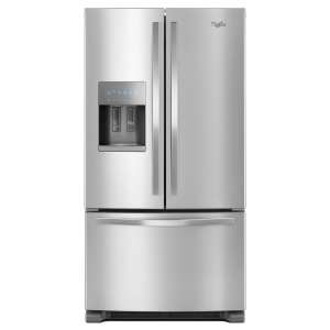 ihocon: Whirlpool 25 cu. ft. French Door Refrigerator in Fingerprint-Resistant Stainless Steel 防指紋不銹鋼法式門冰箱