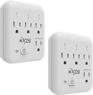 ihocon: [不在家也能遙控電器] KMC 4-Outlet Energy Monitoring Smart Wi-Fi Plug Compatible with Alexa, Google Home & IFTTT (2 Pack) 智能插頭