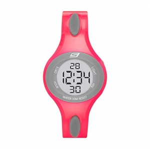 ihocon: Skechers Women's Polliwog Quartz Plastic and PU Sports Digital Watch 女錶