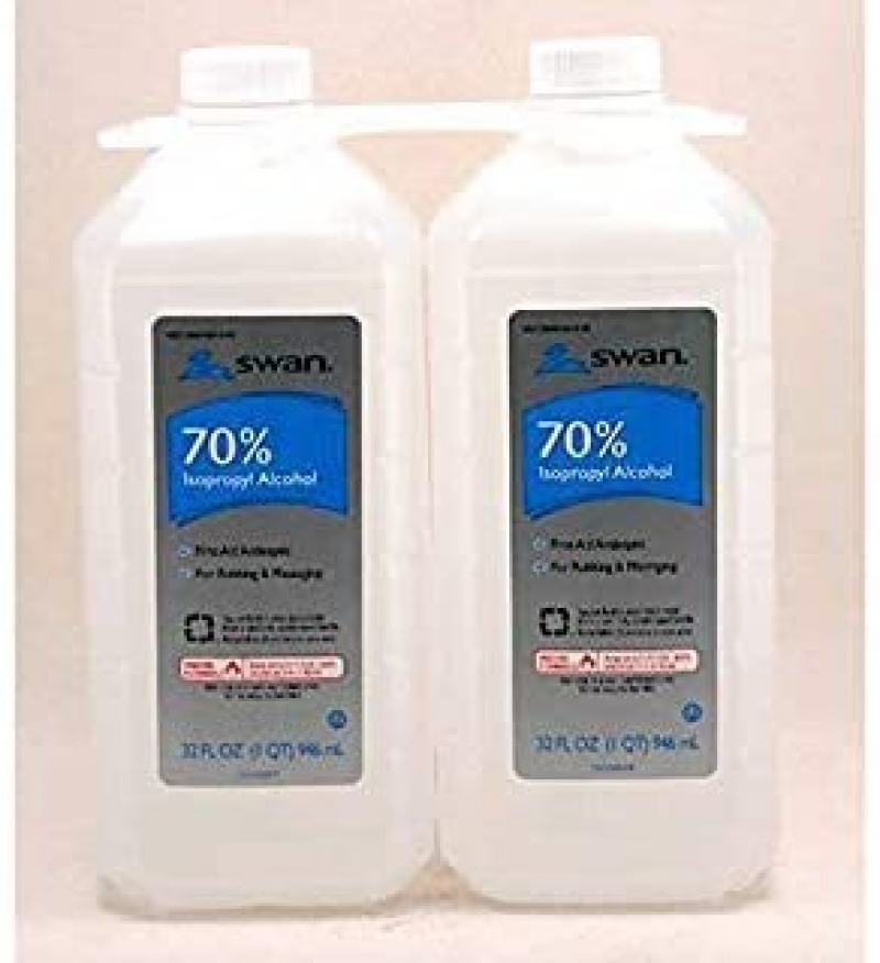 ihocon: Swan Rubbing Alcohol, 32 oz, 2 ct. 70% 消毒酒精