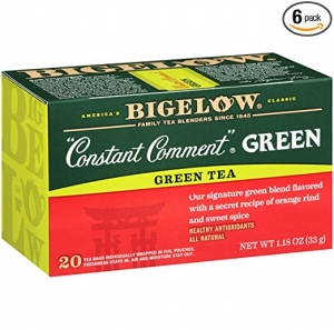 ihocon: Bigelow Constant Comment Green Tea 20-Count Boxes 1.18Oz (Pack of 6), 120 Tea Bags Total 綠茶茶包