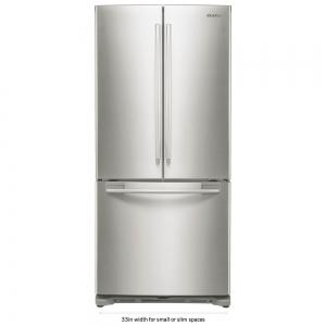 ihocon: Samsung 33 in. W 17.5 cu. ft. French Door Refrigerator in Stainless Steel and Counter Depth 不銹鋼三門冰箱