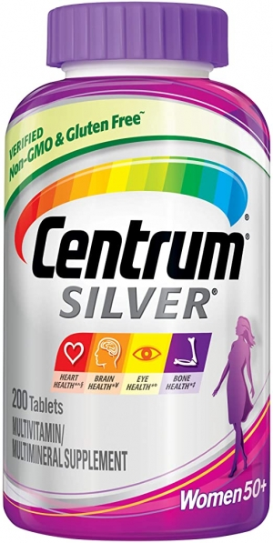 ihocon: Centrum Silver Multivitamin for Women 50 Plus, 200 Count 女士銀寶善存綜合維他命
