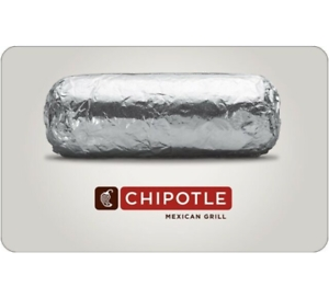 $25 Chipotle Gift Card 只賣 $20