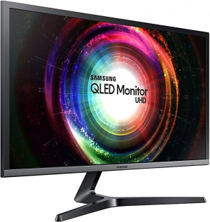 ihocon: Samsung UH750 28 QLED 4K UHD 1ms LED-Lit FreeSync Monitor (LU28H750UQNXZA)電腦螢幕