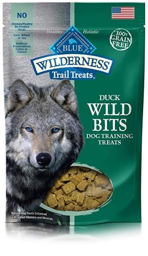 ihocon: Blue Buffalo Wilderness Trail Treats Wild Bits High Protein Grain Free Soft-Moist Training Dog Treats 高蛋白無穀物狗狗零食