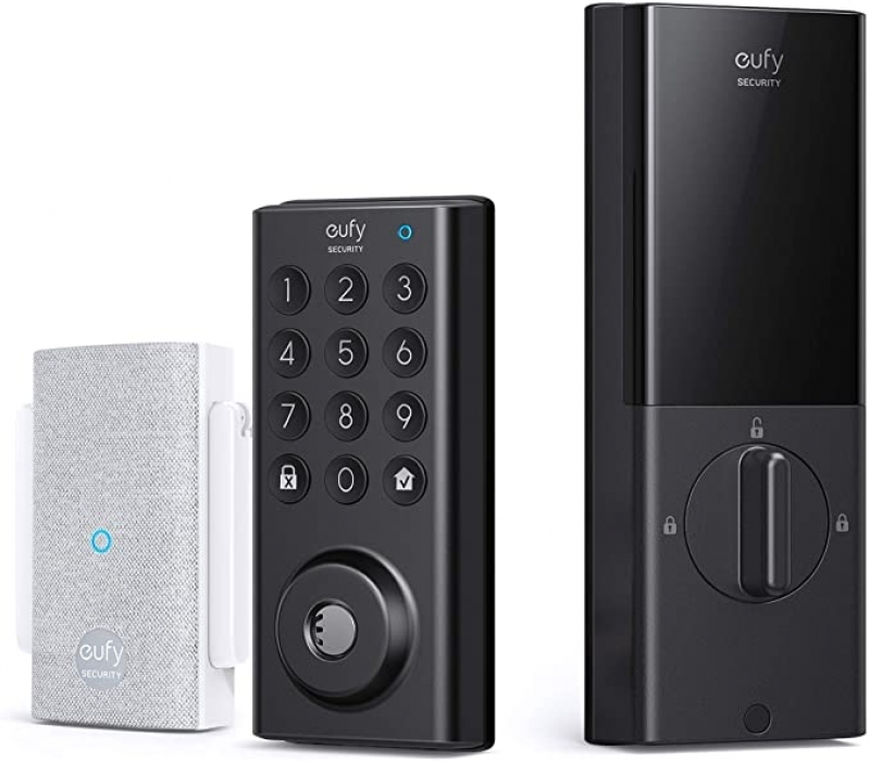 ihocon: eufy Security IPX3 Weatherproof Protection, Electronic Keypad Smart Lock with Wi-Fi Bridge智能門鎖