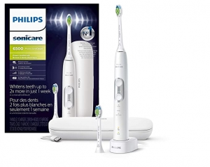 ihocon: Philips Sonicare ProtectiveClean 6500 Rechargeable Electric Toothbrush with Charging Travel Case and Extra Brush Head 飛利浦電動牙刷含旅行盒及替換刷頭-多色可選