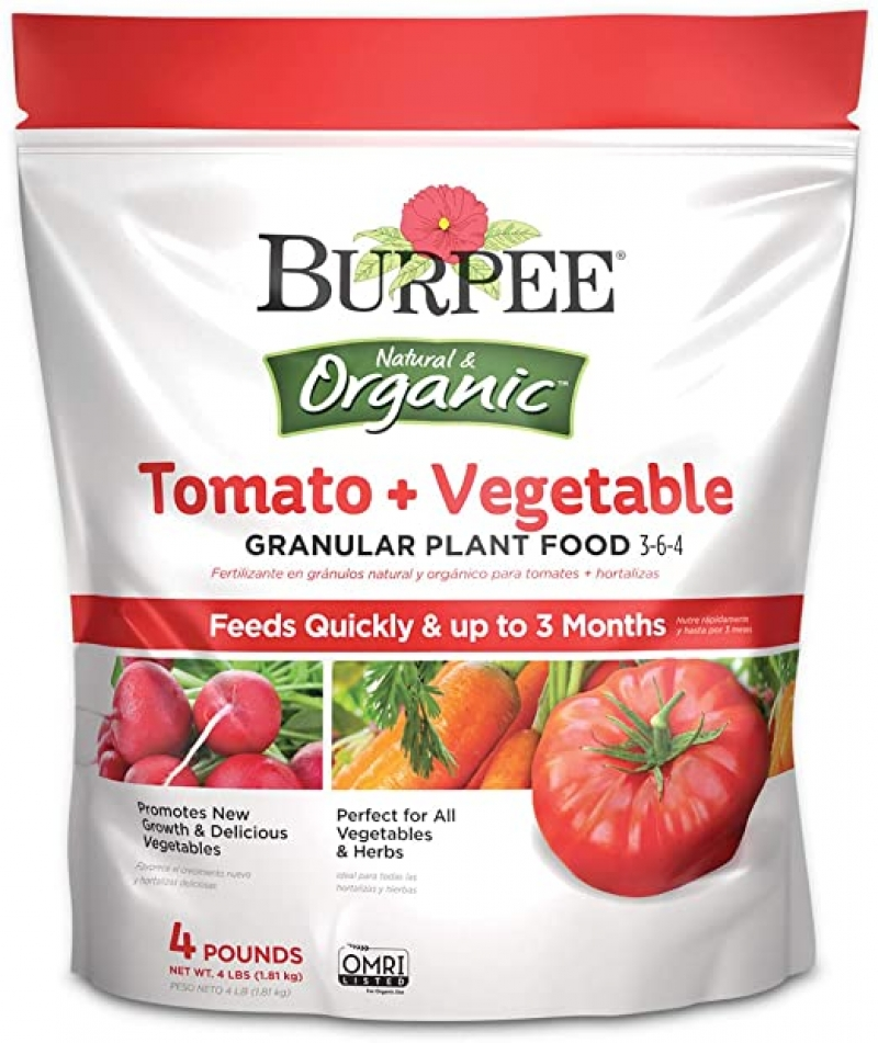 ihocon: Burpee Organic Tomato and Vegetable Granular Plant Food, 4 lbs 有機番茄,蔬菜肥料